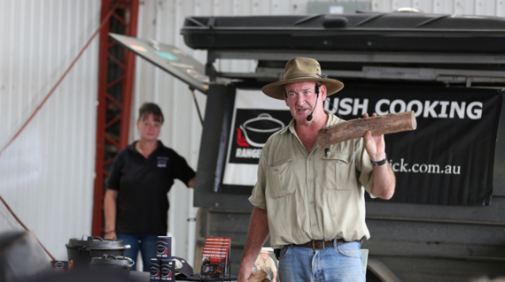 Ranger Nick speaking at the Outdoor Living Show